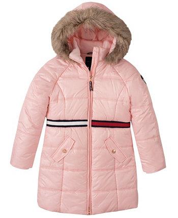 Длинная куртка-пуховик для больших девочек Tommy Hilfiger