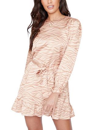 Платье с принтом и оборкой LOST + WANDER