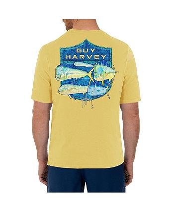 Мужская футболка с короткими рукавами и круглым вырезом Mahi Shield Guy Harvey