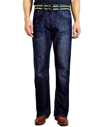 Мужские джинсы Bootcut с поясом Flypaper