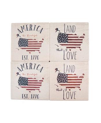 Набор из 4 флагов на американских горках THIRSTYSTONE