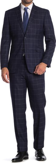 Check Print Two Button Stretch Suit English Laundry