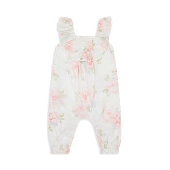 Комбинезон со сборками для маленьких девочек с цветочным рисунком Miniclasix
