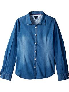 Классическая джинсовая рубашка (для больших детей) Tommy Hilfiger Kids