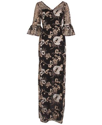 Металлическое платье-футляр Adrianna Papell