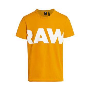 Футболка с необработанным логотипом и графическим рисунком G-STAR RAW