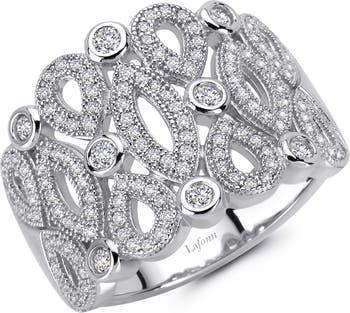 Кольцо из стерлингового серебра с имитацией бриллианта LaFonn