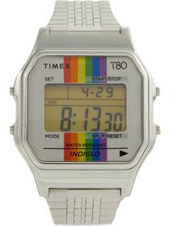 Браслет T80 Pride 34 мм с цифровым корпусом и радужным циферблатом Timex