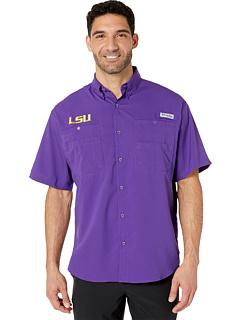 Рубашка LSU Tigers Collegiate Tamiami ™ II с коротким рукавом Columbia College