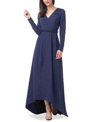 Платье с V-образным вырезом и высоким вырезом Akala JS Collections
