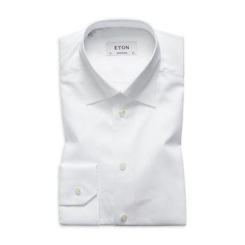 Классическая рубашка из твила современного кроя Eton