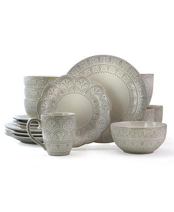 Набор роскошной керамической посуды из 16 предметов Elama Lace Elama
