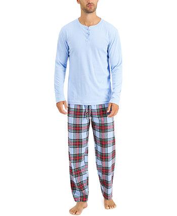 Подходящий мужской семейный пижамный комплект Mix It Tartan, созданный для Macy's Family Pajamas