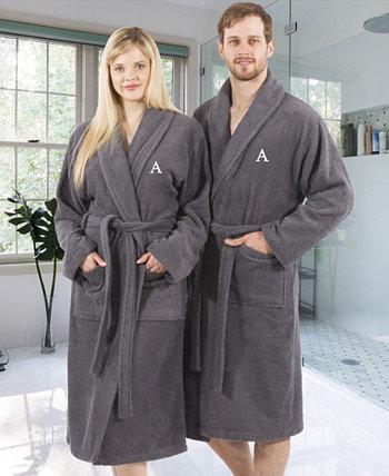 Махровый халат из 100% турецкого хлопка - серый Linum Home