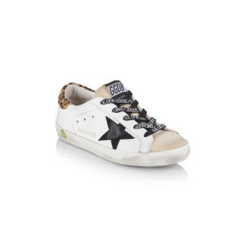 Baby's, Little Kid's & amp; Kid's Superstar Leather & amp; Замшевые кроссовки GOLDEN GOOSE