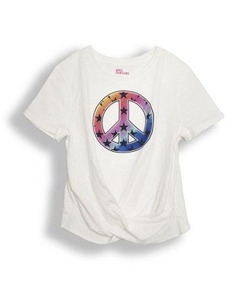 Big Girls Short Sleeve Twist Front Graphic T-shirt Epic Threads