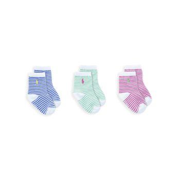 3 пары носков с круглым вырезом в полоску для маленьких девочек Ralph Lauren