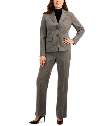 Брючный костюм с узором в елочку Le Suit