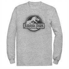 Мужская футболка Jurassic Park All White с трафаретной краской и логотипом из фильма Jurassic World