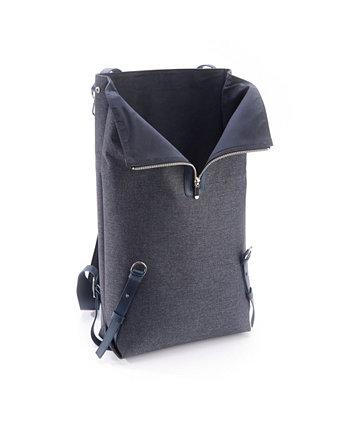 Кожаный фланелевый рюкзак со смешанными носителями ROYCE New York