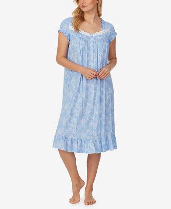 Ночная рубашка в стиле вальса с принтом и оборками Eileen West