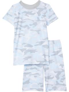 Комплект топа с короткими рукавами и шорт с круглым вырезом (для больших детей) Esme