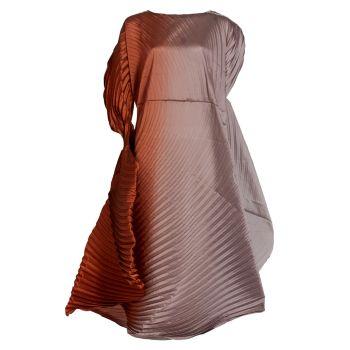 Плиссированное миди-платье с эффектом омбре Issey Miyake