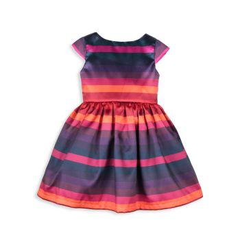 Маленькая девочка & amp; Платье Girl's Sunset в полоску Joe-Ella
