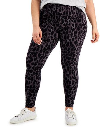 Леггинсы большого размера с леопардовым принтом, созданные для Macy's Style & Co