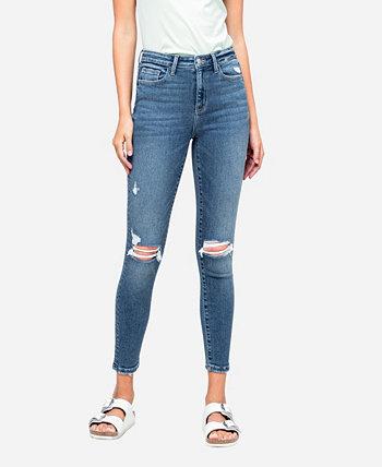 Женские рваные джинсы скинни до щиколотки с высокой посадкой FLYING MONKEY