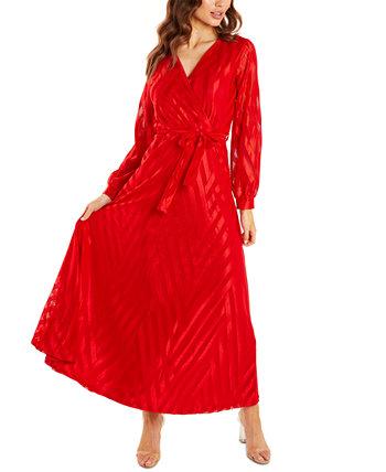 Макси-платье с искусственным запахом Quiz