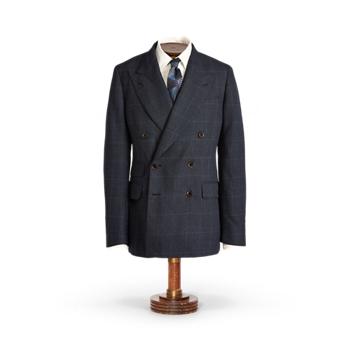 Пиджак из шерсти в клетку Ralph Lauren