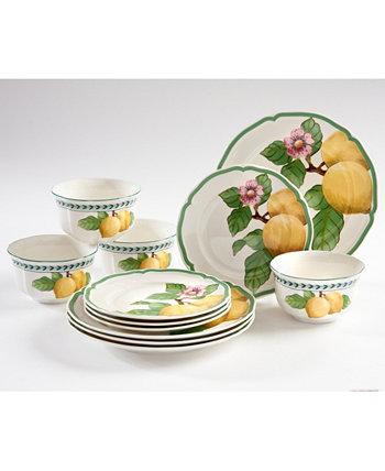 Набор столовой посуды French Garden Modern Lemons из 12 предметов Villeroy & Boch