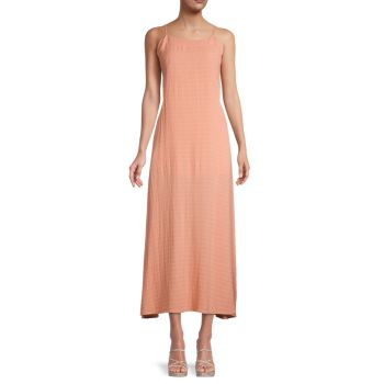 Seersucker Tie-Back Slip Dress DANNIJO