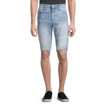 Джинсовые шорты узкого кроя Parker с узором пейсли Buffalo David Bitton