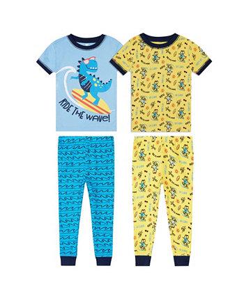 Одежда для сна с динозаврами для маленьких мальчиков, комплект из 4 предметов Koala baby