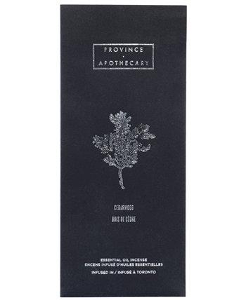 Благовония с эфирным маслом - Кедровое дерево, 1,15 унции Province Apothecary