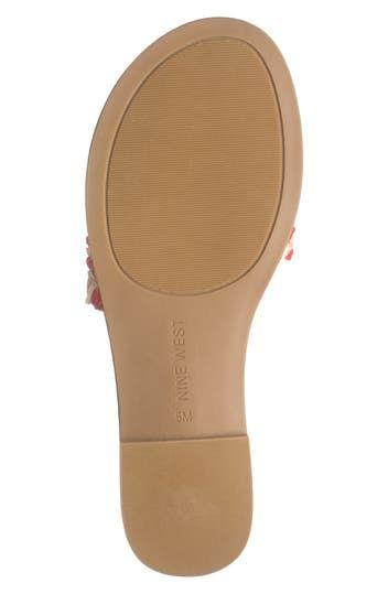 Ceela Woven Slide Sandal Nine West