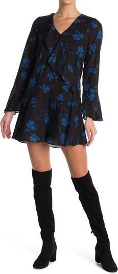 Платье-рубашка с длинным рукавом и оборками Parker