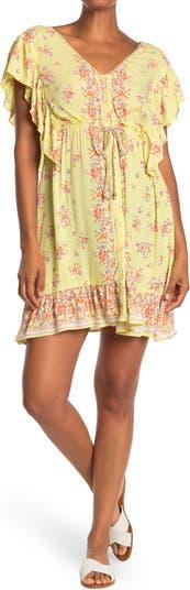 Floral Flutter Sleeve Dress Angie