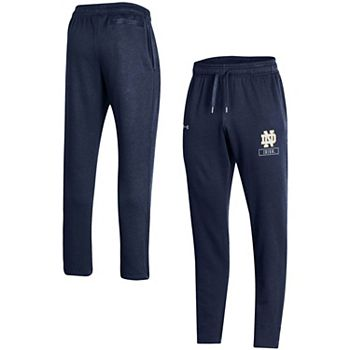 Men's Under Armour Navy Notre Dame Fighting Irish All Day Open Bottom Pants Under Armour