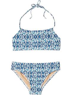 Тропическое синее бикини-бандо с лямкой на шее (для младенцев / малышей / маленьких детей / старших детей) Toobydoo