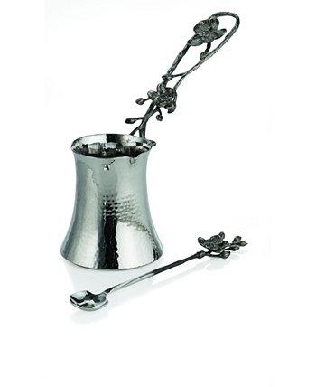 Кофейник и ложка с черной орхидеей MICHAEL ARAM