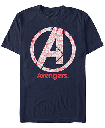 Мужская футболка Avengers Endgame Line Art, футболка с коротким рукавом Marvel