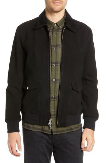 Замшевая куртка в клетку Regular Fit BALDWIN