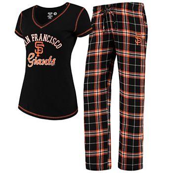 Women's Concepts Sport Black San Francisco Giants Duo Pants & Top Set Unbranded