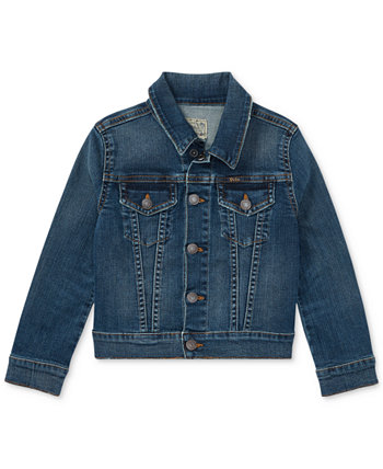 Джинсовая куртка Trucker для маленьких девочек Ralph Lauren