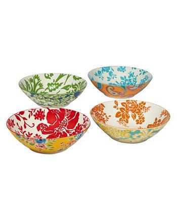 Дамасский цветочный набор из 4 суповых чаш Certified International