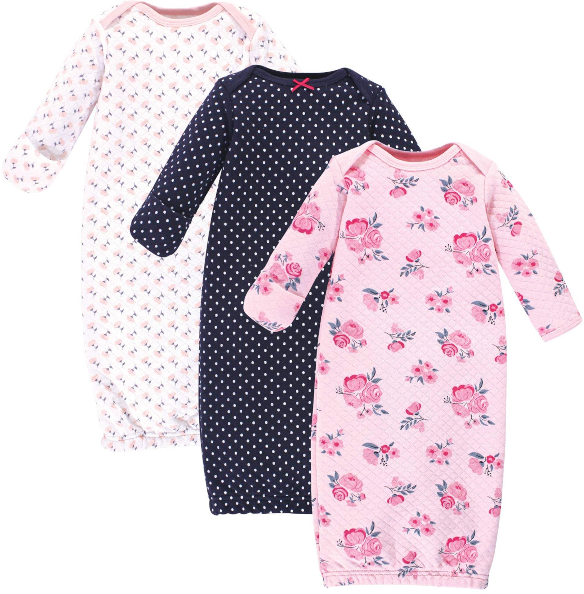 Набор из 3 стеганых хлопковых платьев (для младенцев) Hudson Baby