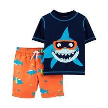 Комплект из 2 предметов рашгарда Shark Rash Guard для малышей Картера и плавок Carter's